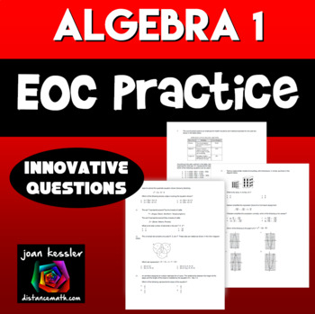 Algebra EOC Practice Innovative Questions | Distance Learning
