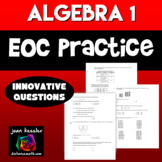 Algebra 1 End of Year EOC Review Packet Test Prep with Innovative Questions