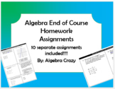 Algebra 1 EOC Review Homework Assignments