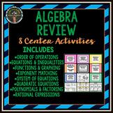 Algebra Review Stations