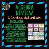 Algebra Review Stations