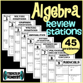 Algebra End of the Year Review Stations: Final Test Prep
