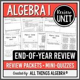 Algebra 1 EOC Review Packets + Editable Quizzes