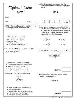Algebra 1 EOC Review Packets + Editable Quizzes by All ...