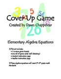 Algebra Equation Cover Up Game