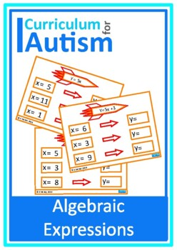 Algebraic Expressions Input Output Function Machines  Autism Special Education