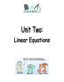 Algebra Equations Notes Packet