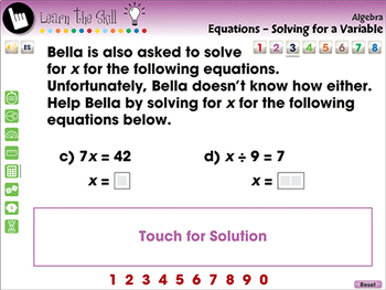 Algebra: Equations - Solving for a Variable - Learn the Skill - NOTEBOOK Gr. 3-5