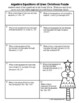 Algebra Equations of Lines Christmas Puzzle