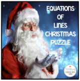 Christmas Algebra Equations of Lines Puzzle