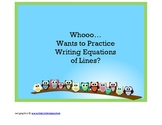 Algebra Equations of Lines Owl Puzzle