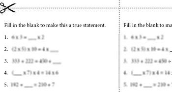 Algebra--Equivalent Relationships Worksheet Set