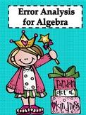 Error Analysis: Algebra (70 Pages) Bundle