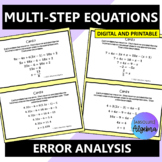 Solving Multi-Step Equations Error Analysis