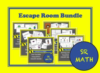 Algebra Escape Room Bundle