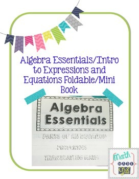 Algebra Essentials/Intro to Expressions and Equations Foldable or Booklet