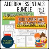 Algebra Essentials   Algebra Lessons & Project BUNDLE