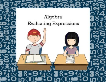 Algebra-Evaluating Expressions/Equations-Middle School Task Cards