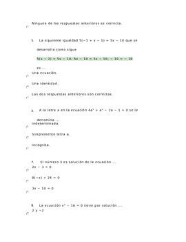 Algebra Excersices