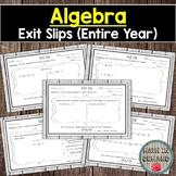 Algebra Exit Slips