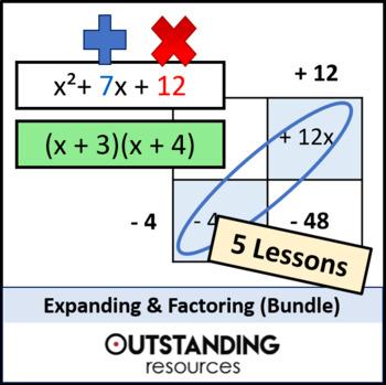 Algebra: Expanding & Factoring BUNDLE inc. Algebraic Fractions (5 Lessons)