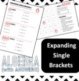 Algebra - Basics - Expanding single bracket expressions