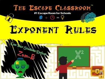 Algebra: Exponent Rules Escape Room | The Escape Classroom