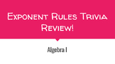 Algebra - Exponent Rules Trivia Review (.pdf)