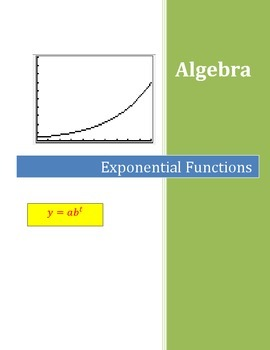 Algebra Exponential Functions Activity