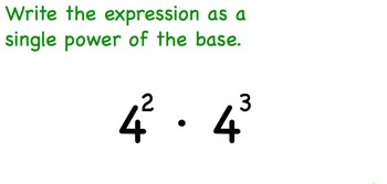 Exponents Multiplication