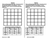 Bingo - Algebra Expressions