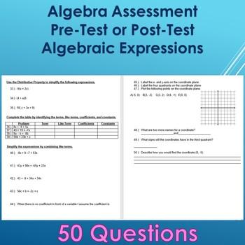 Algebra Expression Test