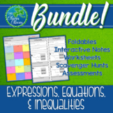 Algebra Expressions and Equations Bundle 7.EE.1 through 7.EE.4