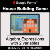 Algebra Expressions with 2 variables   House Building Game