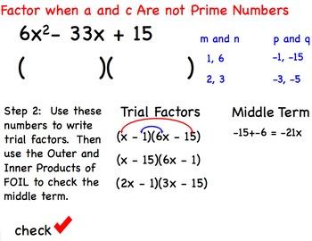 Factor Trinomials