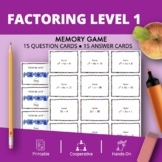Algebra Factoring #1 Math Memory Game