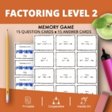 Algebra: Factoring #2 Math Memory Game