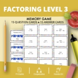 Algebra: Factoring #3 Math Memory Game
