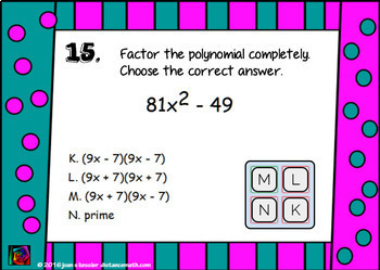 Algebra Factoring Binomials with BOOM Cards