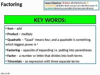 Algebra: Factoring Double / 2 Parentheses (Quadratics)