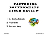 Algebra - Factoring Polynomials Bingo Review Game
