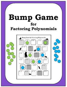 photograph relating to Factoring Polynomials Games Printable referred to as Algebra: Factoring Polynomials Bump Match