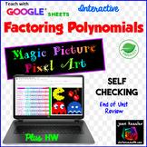 Factoring Polynomials Digital Magic Picture with GOOGLE plus PRINT version