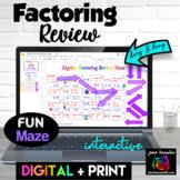 Algebra Factoring Maze with Interactive GOOGLE Slides