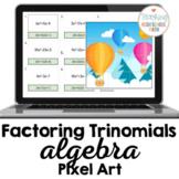 Algebra Factoring Trinomials Pixel Art
