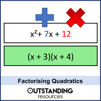 Algebra: Factorising Double / 2 Brackets (Quadratics)