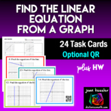 Find the Linear Equation from a Graph Task Cards QR and more