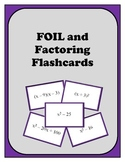 Algebra: Flash Cards - Multiplying Binomials (FOIL) and Factoring