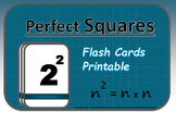 Algebra Flash Cards: Perfect Squares