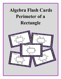 Algebra: Flash Cards - Perimeter of a Rectangle (with Combining Like Terms)
